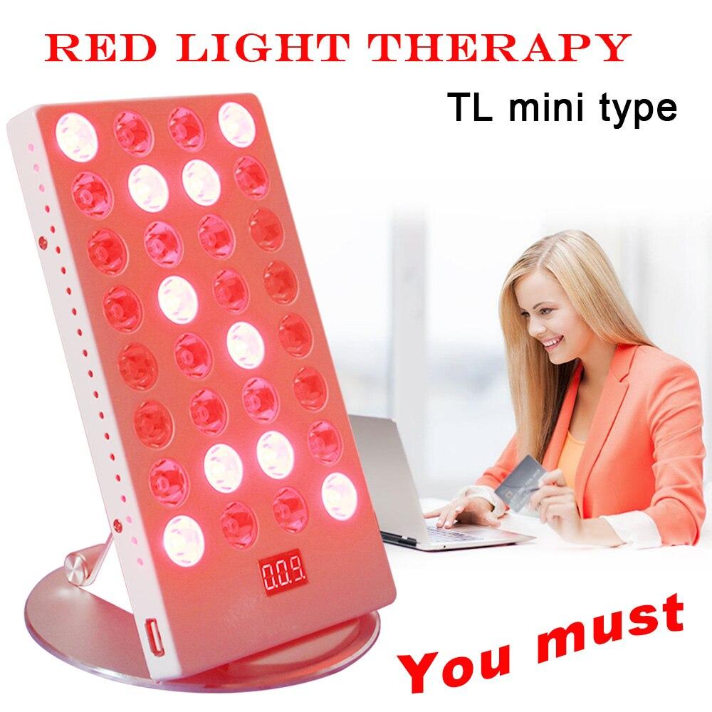 Mini mesa de escritório 660nm 850nm LED red light lâmpada fisioterapia cuidados com a pele tratamento com controle timer