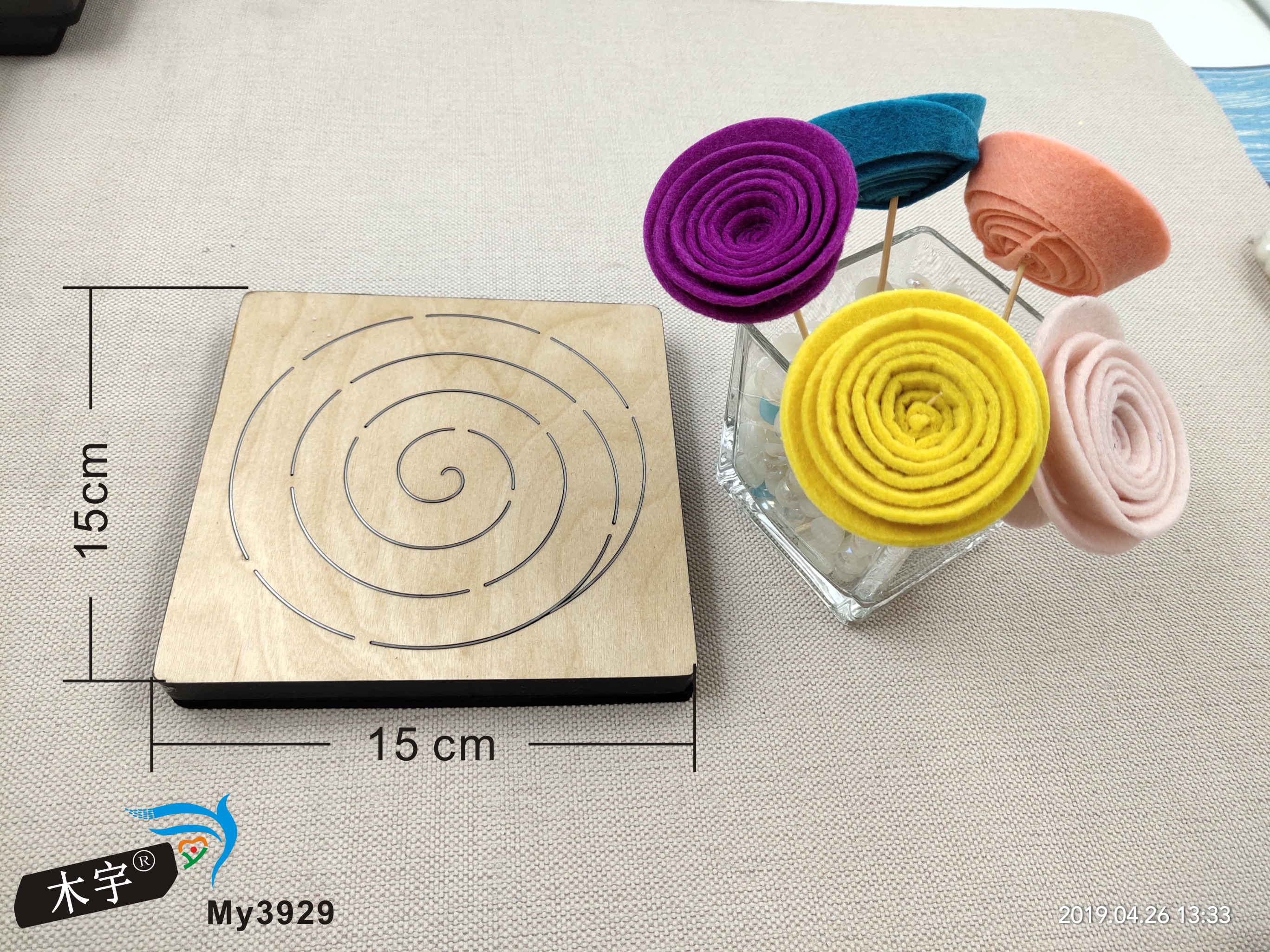 Stereoscopic flower new wooden mould cutting dies for scrapbooking Thickness 15 8mm