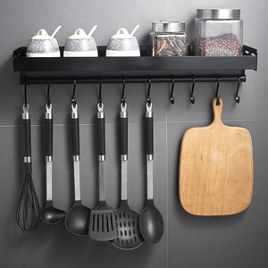 Black Wall Mounted Kitchen Rac