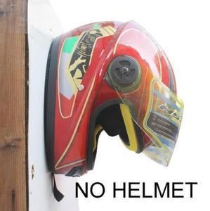 Image 2 - Suporte para capacete de motocicleta, 2 pçs/lote, cabide de jaqueta, montagem na parede