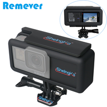 Новый 2300 mAh Внешняя Батарея с Камера случае сбоку Powerbank с рамкой для GoPro Hero 5/6/7 черный Тип-C для мобильных телефонов