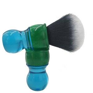 Image 5 - Escova de barbear sintética do cabelo do smoking de dscosmetic 26mm com punho da resina