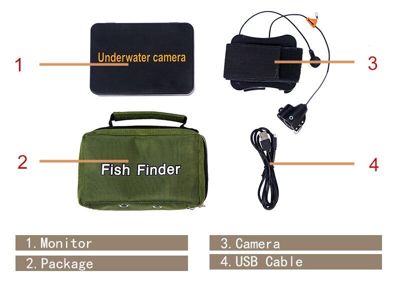 """SYANSPAN Портативный 1000TVL """" ЖК-монитор подводная рыболовная камера 6 шт. инфракрасные и белые светодиоды ночного видения рыболокаторы"""