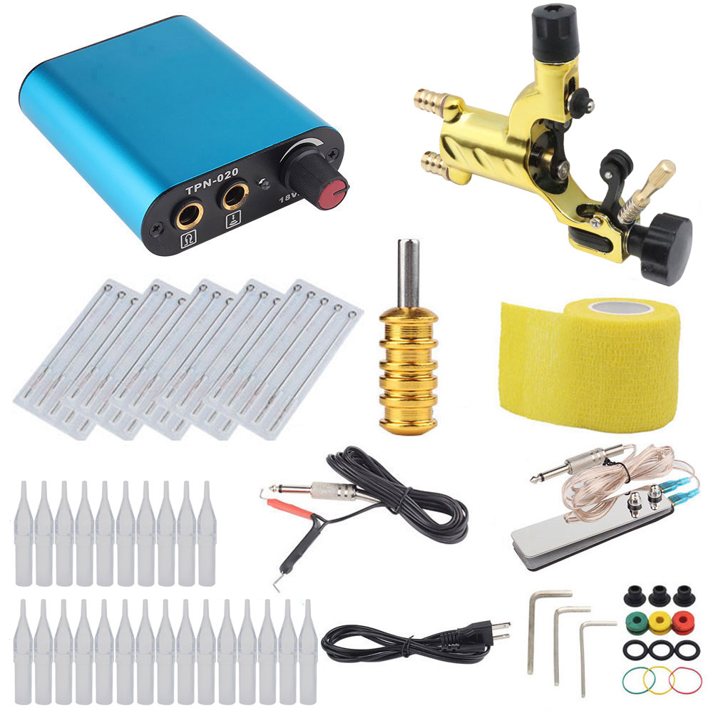 Besta Professional Tattoo Kit Dragonfly Rotary Machine Shader & Liner With Needle Bandage and Disposable