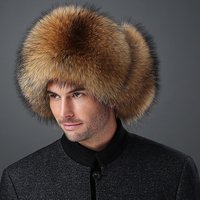 2017 Fashion Autumn Fox Fur Hat Male Winter Mink Fur Hat Man Lei Feng Ear The Whole Northeast Thickened Outdoor Tide