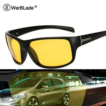 f0561a0e92 Gafas de sol polarizadas para conducir gafas de sol de visión nocturna WarBLade  gafas de diseñador de marca para hombre gafas de sol de piloto HD 1825
