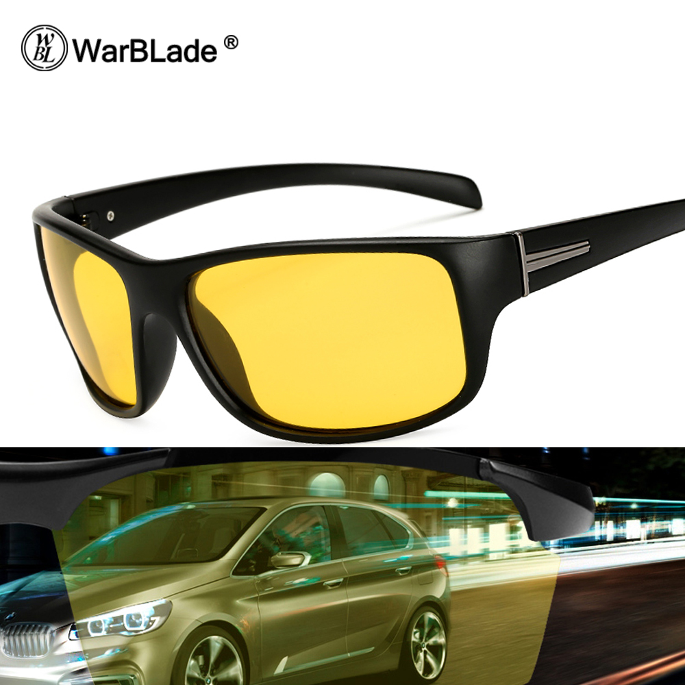 WarBLade Night Vision Glasses Driving Polarized Sunglasses Men Women Brand Designer Goggles Eyewear HD Pilot Sun Glasses 1825