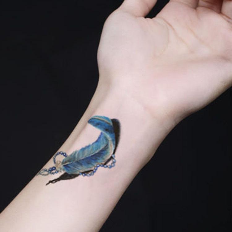 Flying Feathers Wrist Tattoo Waterproof Arm Tattoo Beautiful Tattoos