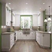 Кухня корпусной мебели с высокий корзина матовое стекло двери настенном шкафу