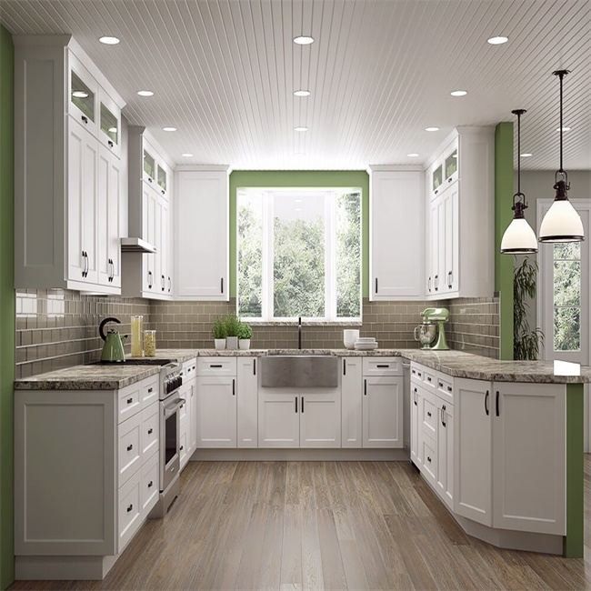 Kitchen cabinet furniture with tall basket frosted glass ...