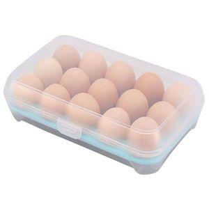 Image 5 - Egg Refrigerator Fresh Box 15 Plastic Egg Rack Kitchen Egg Storage Food Container Efficient Egg Dispenser Storage Box
