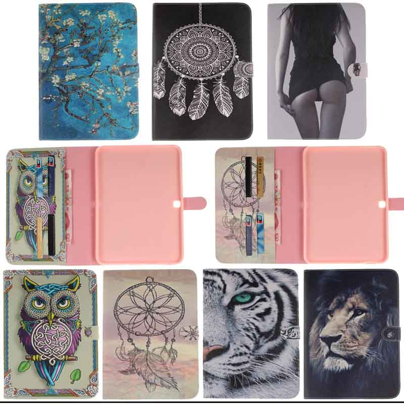flower Pattern Leather Protective case Cover for Samsung Galaxy Tab 4 10.1 SM-T530 T531 T535 Tablet Accessories Y4D40D