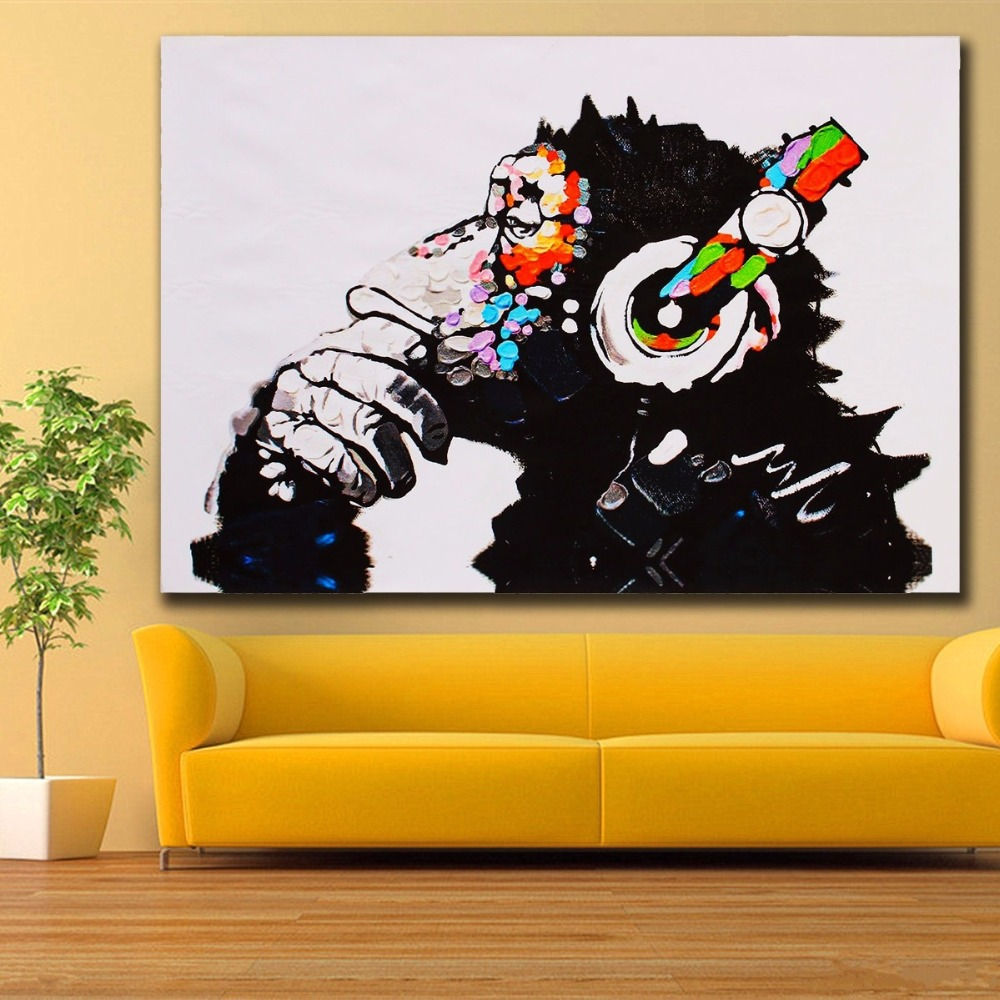 Fashion Animals Color Music Monkey Vintage wall art Poster Hippie ...
