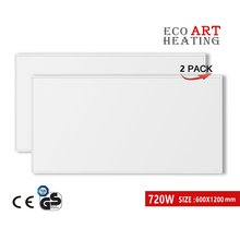 Far Infrared Heating Panel 720W 2 PACK Heater Radiator Wall Mounted