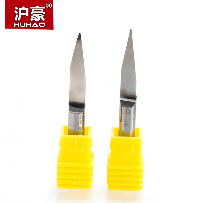 HUHAO 1pc SHK 6mm Flat Bottom Engraving Bits 45-50mm Lengthened CNC Router Tools V Carbide Carving Cutters Degree 20 25 30 60 90 6 22mm 90 degree v shaped 3d engraving tools carving bits cnc router cutting tools wood router bits