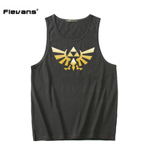 Flevans 2017 Fashion Men Bodybuilding Tank Tops Sleeveless Gyms Clothing The Legend of Zelda Printed Tank Top Vest