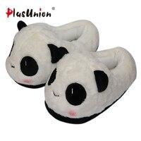 pikatu winter panda slippers cartoon warm plush ladies women indoor unisex furry animal house home shoes anime adult cosplay