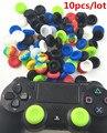 10 шт./лот Силиконовый Стик Джойстик Крышка Кожи Случая Крышки для Sony PS4 PS4 Тонкий PS4 Pro PS3 Контроллер Силиконовый Caps