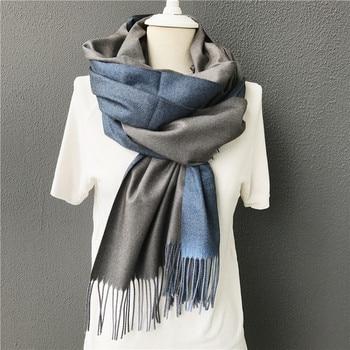 2020 New Winter Warm Solid double-side Soft Women Cashmere Scarves Shawls And Wraps Bandana Female Foulard Tassel Men Scaves