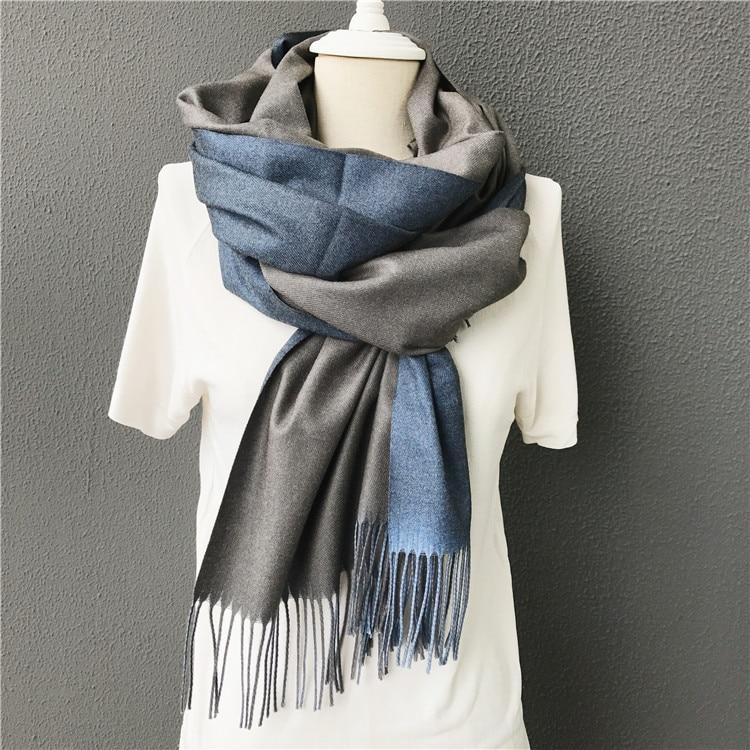 New men   scarf   Winter warm solid double-side soft cashmere   scarves   shawls and   wraps   bandana female foulard Tassel