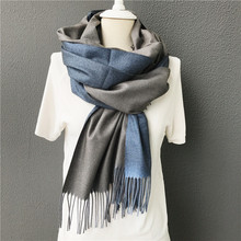 New men scarf Winter warm solid double-side soft cashmere scarves