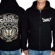 15 дизайнерский винтажный черный Свитшот череп козла одежда толстовки Панк тяжелый металл рок sudadera Верхняя одежда Куртка