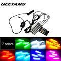 GEETANS Car RGB LED Strip Light 4pcs LED Strip Lights 16 Colors Car Styling Decorative Atmosphere Lamps Car Interior Light With