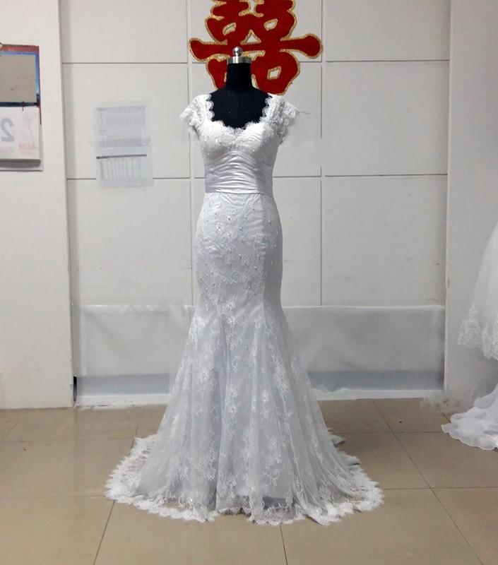 MANSA Vestido De Noiva Vintage Lace Mermaid Wedding Dress 2017 Sexy Sweetheart Trumpet Wedding Dresses With Sleeves Bridal Gown