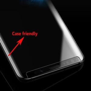 Image 3 - Liquid UV Glue Tempered Glass Screen Protector For Samsung Galaxy S9 S10 Plus Note 9 Note 10 2PCS Glass+2PCS Glue+1 Big Light