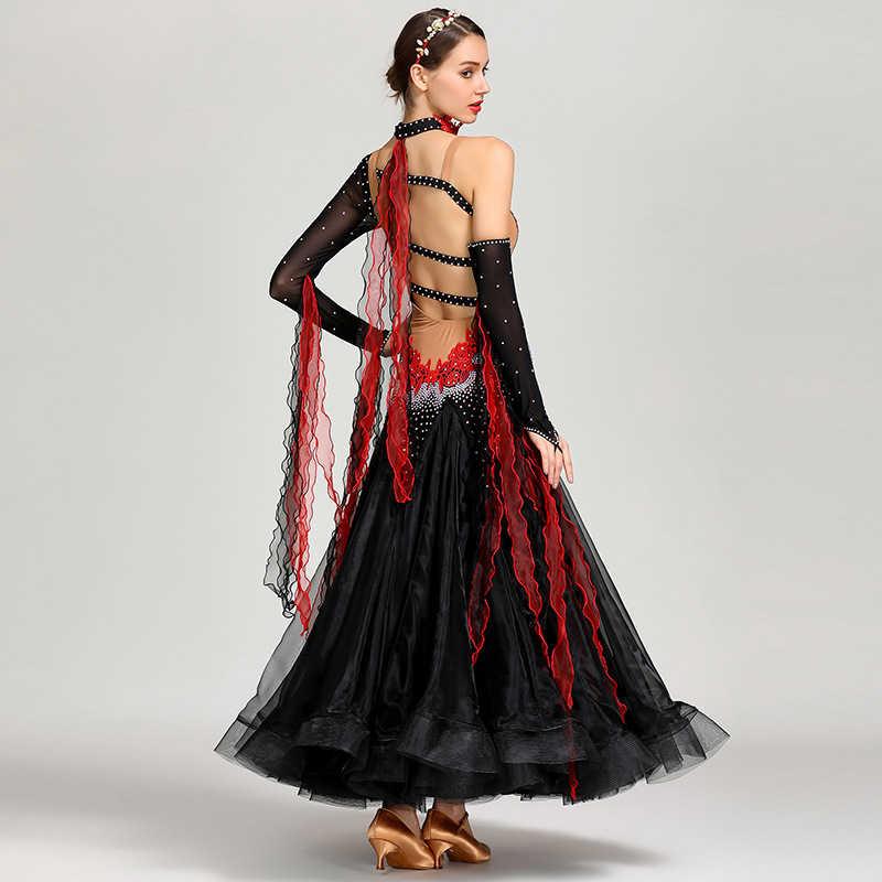 Мэй Ю S7022 современный танцевальный костюм для женщин Женская танцевальная одежда вальцинг Танго Танцы Платье Бальный костюм вечеринка платье