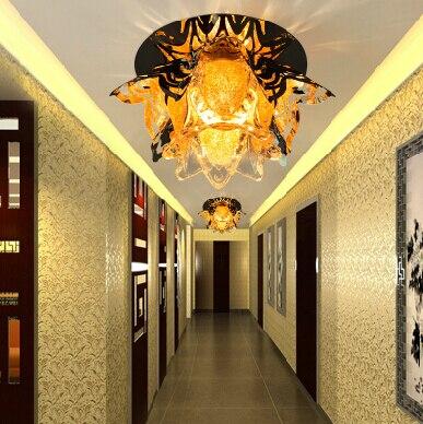 Colorpai 5W Flower-shaped crystal led lamp aisle lights corridor lights entrance lights ceiling light lamparas de techo 12cm