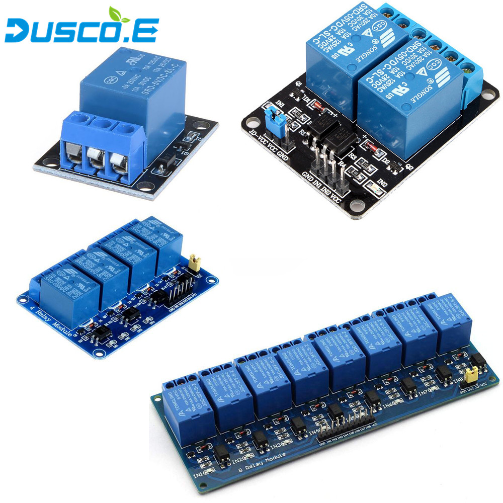 1Pcs 1 2 4 8 Channel 5V Relay Module with optocoupler Relay Output 1 2 4 8 Way Relay Module For Arduino DIY Kit Raspberry Pi 3 in Integrated Circuits from Electronic Components Supplies