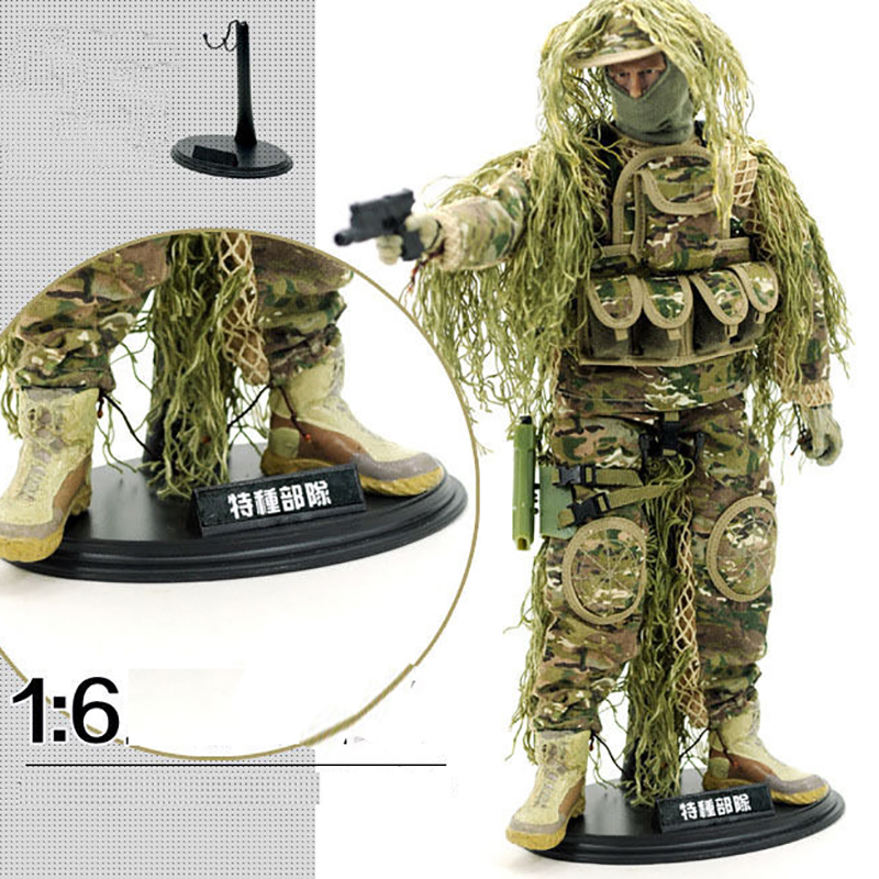 """White MIni Stand Support For 1//6 Scale Female 12/"""" Action Figure 1:6 Army Toy"""