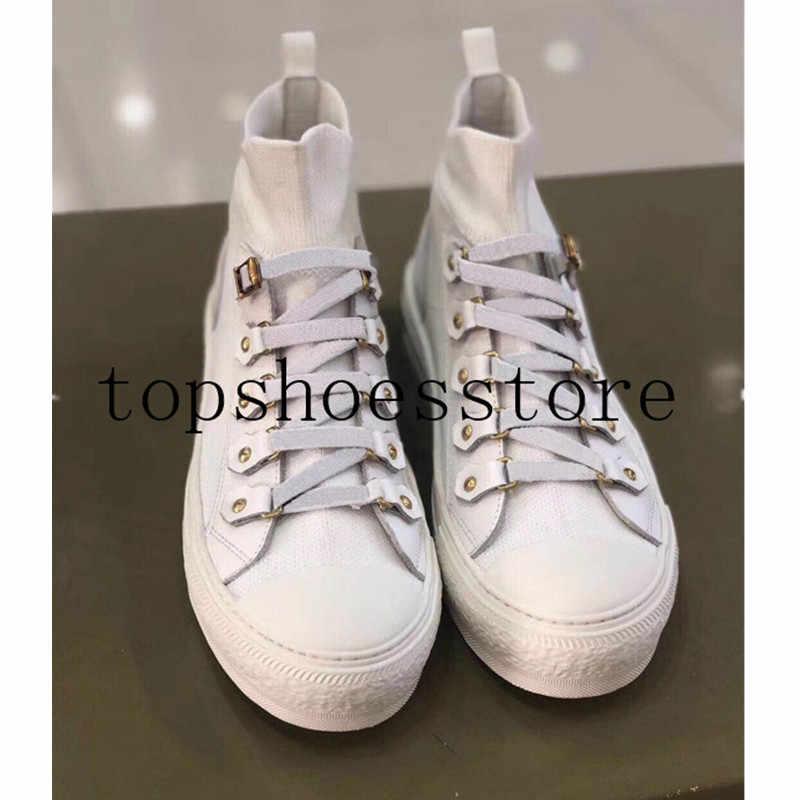Scarpe da tennis delle donne di disegno di marca lace up MAGLIA di alta top desginer allenatore della scarpa da tennis scarpe basse donna
