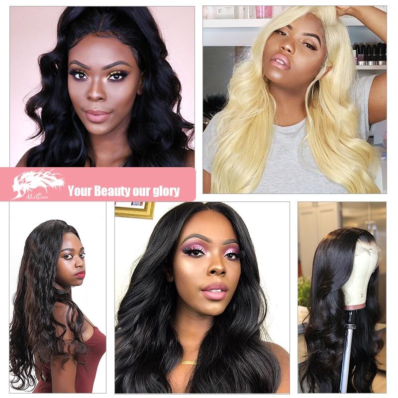 Ali Queen Hair Products Brazilian Hair Body Wave Bundles 100% Human - Mänskligt hår (svart) - Foto 6