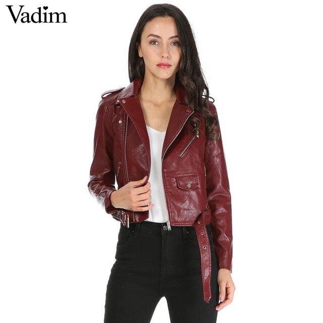 34429caba9bd3 Femmes couleur bonbon faux PU cuir court moto veste poches à glissière sexy  punk manteau dames