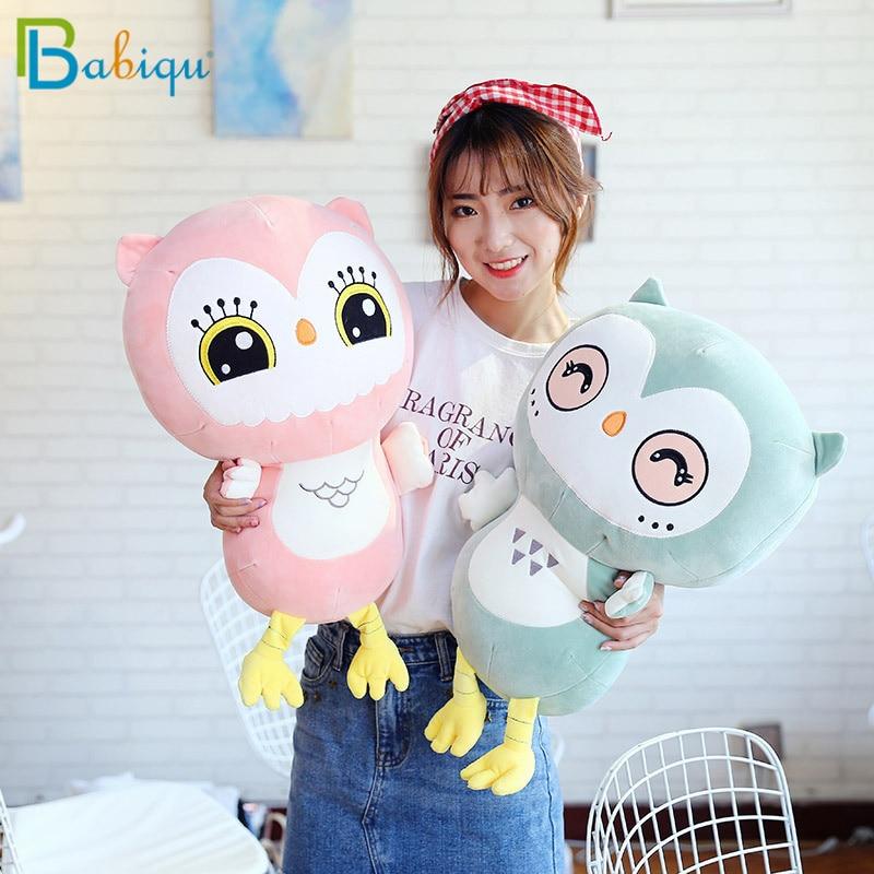 Babiqu 1pc 50CM nuevo creativo Kawaii búho de felpa de juguete de felpa de algodón Animal muñeca para niños bebé suave almohada cojín para regalo