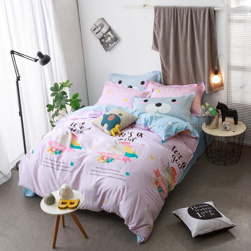 Online Get Cheap Unicorn Bedding Full Aliexpress Com