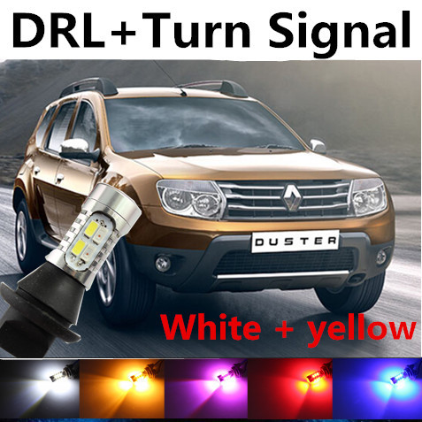 free shipping for renault duster logan accessories daytime running light front turn signals. Black Bedroom Furniture Sets. Home Design Ideas