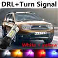 Free shipping For renault duster logan accessories Daytime Running Light & Front Turn Signals all in one Warning Xenon lamp