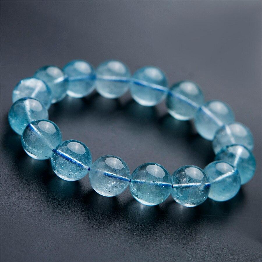Bracelet de perles rondes extensible en cristal de guérison de livraison directe 13mm grand puissant clair naturel à paz Bracelets femmes hommes