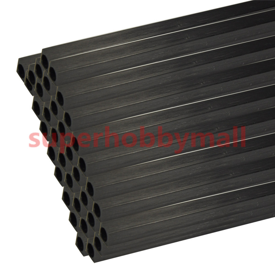 2PCS 10mm OD X8.5mm ID Length 500mm Carbon Fiber Square Tube 5pcs 304 stainless steel capillary tube 3mm od 2mm id 250mm length silver for hardware accessories