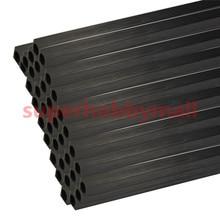 2PCS 10mm OD X8 5mm ID Length 500mm Carbon Fiber Square Tube