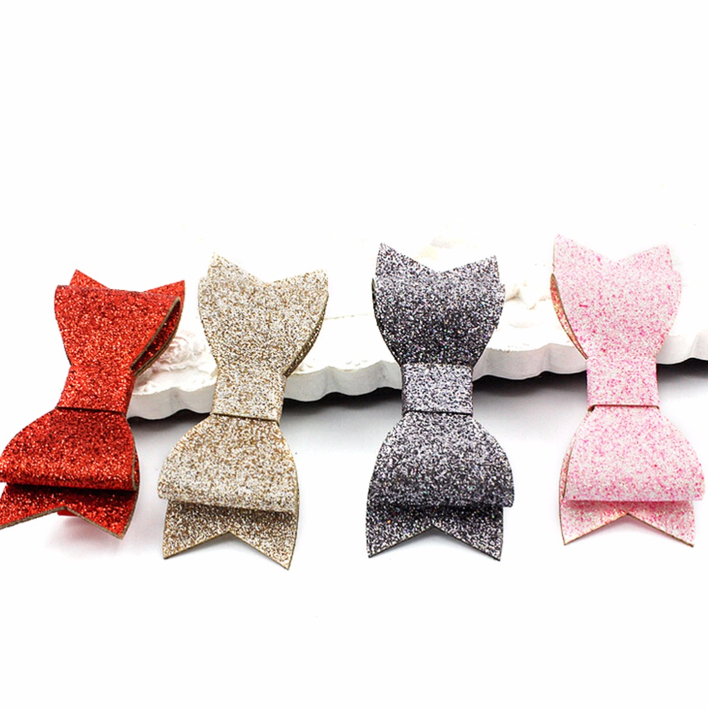 11Color Best Gif Children Hair Headwear Boutique Baby Girl Hairbow Hairpins Fashion Glitter Leather Bow Hair Clips For Kids fashion 6 inch cute boutique hair pin grosgrain ribbon bows hairpins little girl bows hair clips kids headwear accessories new