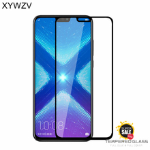 2PCS Full Glue Cover Glass Huawei Honor 8X Tempered Screen Protector Phone Film For 8X<