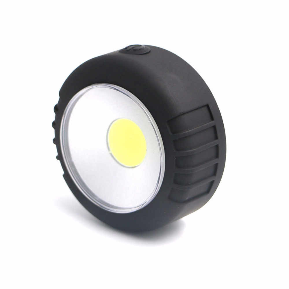 Portable Mini COB LED Kerja Lampu Kuat Tahan Air Magnet Menggantung Hook Senter LED Outdoor Camping Lampu Menggunakan 3 * AAA