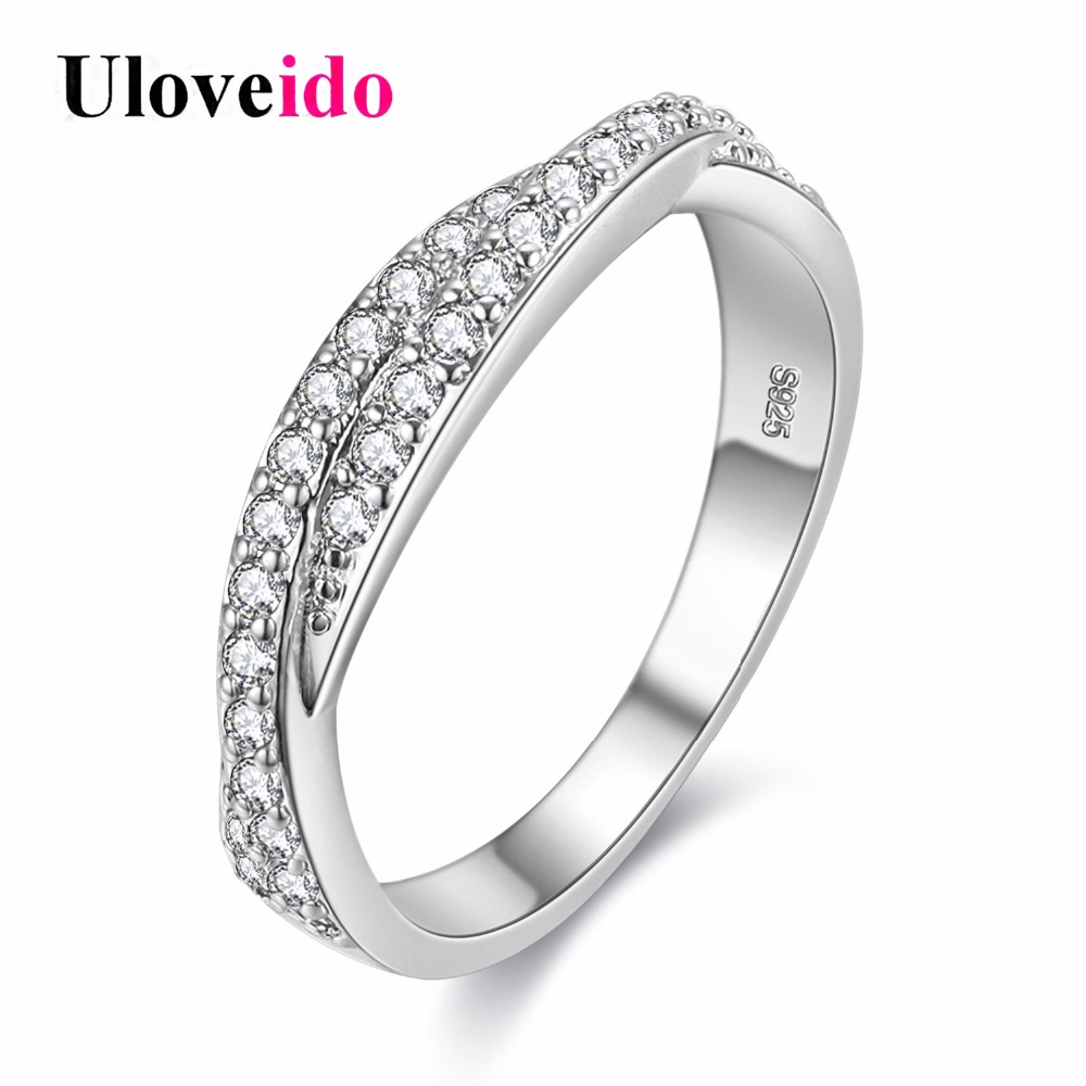 5% Off Flower Crystal Ring Female Silver Color Jewelry
