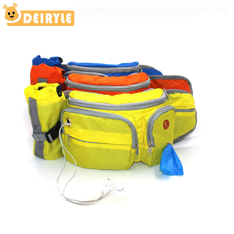 Portable Adjustable Running Waist Bag Dog Training Waist Bag Travel Sports Bag Carry Snacks Garbage Bag For Dog Leash
