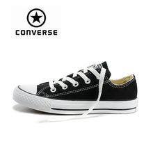 c6b1f5477 Аутентичные Converse All Star парусиновая обувь унисекс классический низкий  Топ Скейтбординг обувь анти-скользкой резины