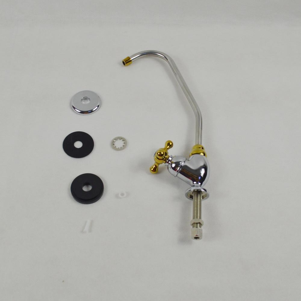 Reverse Osmosis Water Filter Standard Faucet, Golden non air gap ...